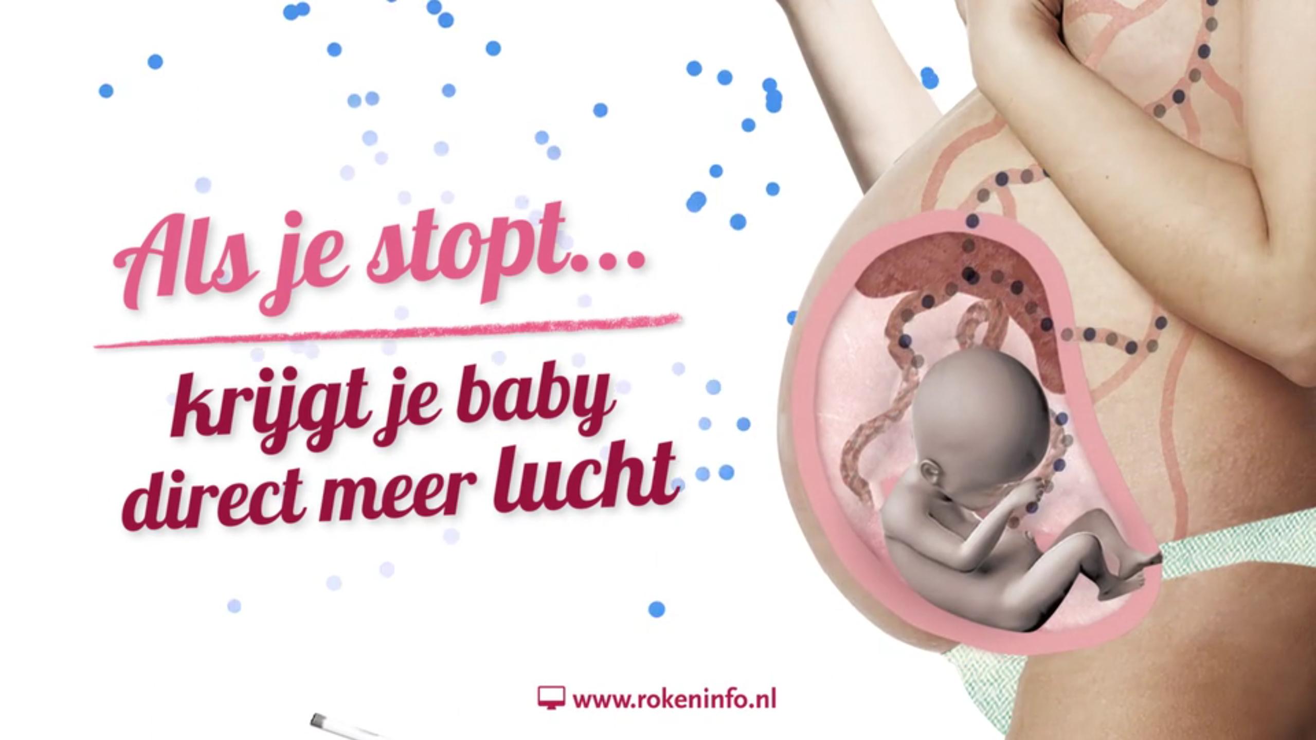Als je Stopt krijgtje baby direct meer lucht